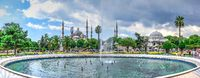 Fountain in Sultan Ahmed Park, Istanbul, Turkey