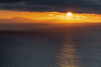 Sunset, Barents Sea, Soeroeya Island, Finnmark, Norway