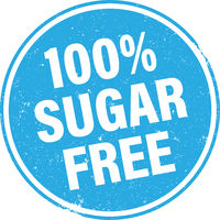 grungy 100 percent SUGAR FREE stamp or sign