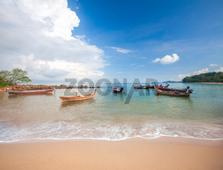 beach and fishing boat