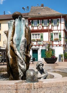 Market fountain, Bad Sobernheim, Germany