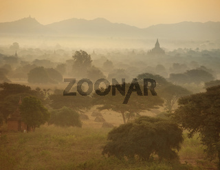 ancient architecture of Buddhist Temples at Bagan