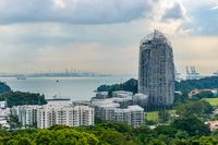 View from Mount Faber Park in Singapore