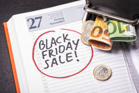 Date for Black Friday Sale in the calendar