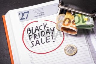 Termin für Black Friday Sale im Kalender