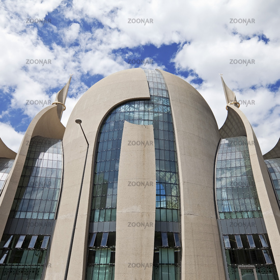 DITIB Central Mosque Cologne, architects Gottfried and Paul Boehm, Cologne, Germany, Europe