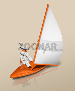 Sailing 3D icon, Olympic sports
