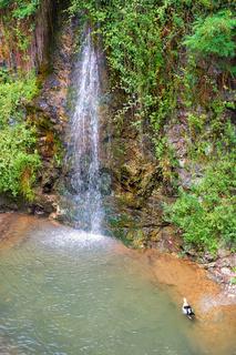 Petras Androginou waterfall in the Kakopetria town. Nicosia District. Cyprus