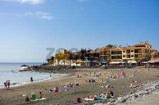 Der beliebte Strand Playa de Valle Gran Rey auf der Insel La Gomera