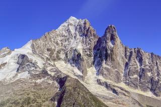 Aiguille Verte and Dru Peak, Aiguilles at Chamonix, Mont Blanc M