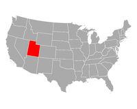 Karte von Utah in USA - Map of Utah in USA