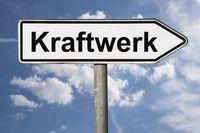 Wegweiser Kraftwerk | signpost Kraftwerk (Power station)