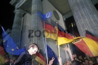 Wiedervereinigung Feier Berlin 1990