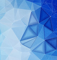 Blue polygonal abstract backdrop