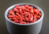 Goji berries in a bowl.