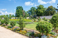 Convent garden (apothecary garden) in Seligenstadt monastery in Offenbach district in Hesse