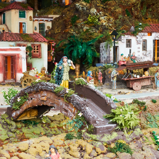 Christmas Belen -  Life of ancient Bethlehem in miniature