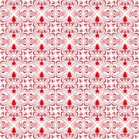 Christmas Patterns Ornaments Red Background