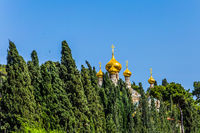 Golden domes Church of St. Mary Magdalen