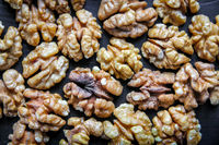 Walnut kernels background texture