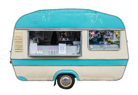 Retro Vintage Food Truck Or Caravan