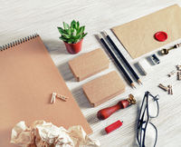 Kraft stationery set
