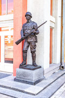 Sculpture of the soldier of the Red Army