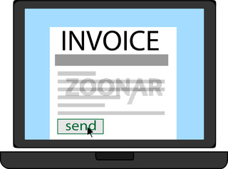 Invoice blank in a notebook screen