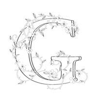 Letter G floral sketch