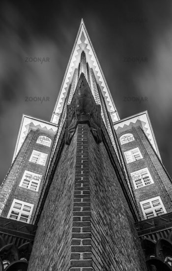 Hamburg Chilehouse at Night