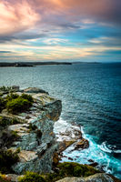 Views over the coastline of Manly Australia