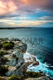 Views over the coastline of Manly Australia