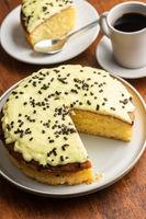 Sweet lemon cake
