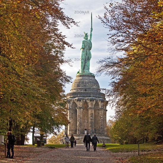 Hermannsdenkmal monument, Detmold, Germany