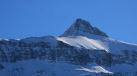 Blue sky over Mount Oldenhorn.