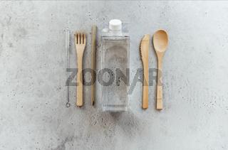 Zero waste utensils on table