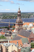The Riga Cathedral and city view