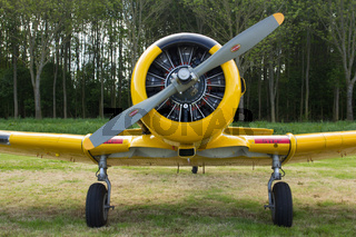 Oostwold, Netherlands May 25, 2015: A Harvard at Oostwold Airshow