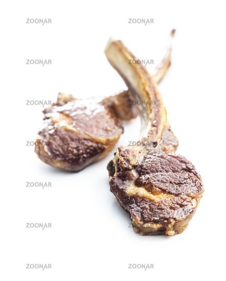 Grilled lamb chops.