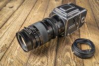 Medium format, classic film camera, Hasselblad 500 cw.