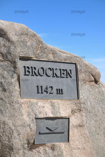 on Brocken Mountain in Harz,Saxony-Anhalt,Germany