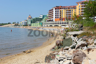 Nessebar, Bulgaria - May 22, 2011: Beautiful View Of The Sea Coast Of the Old Town.