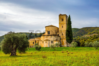 Ancient abbey of San Antimo