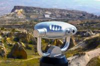 binoculars and Cappadocia