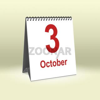 October 3rd   3. Oktober