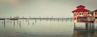Penang coastline at sunset time. Panorama