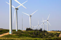 The wind farm on Mount Gilboa