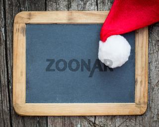Christmas card blank with Santa hat