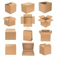 Shipping Box Big Set Isolated White background