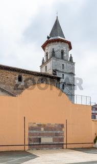Ainhoa Basque pelota wall, in France